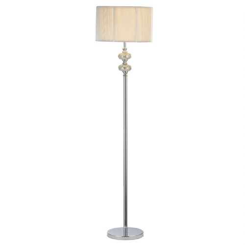 Hewitt Floor Lamp Silver Mosaic complete with Silver String Shade (Double Insulated) BXHEW4939-17